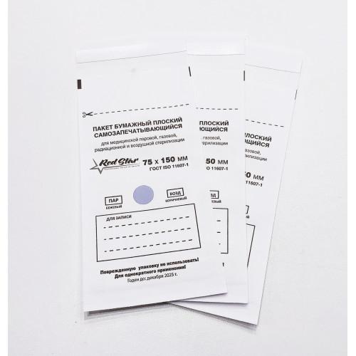 Крафт-пакеты Белые 75x150 Red Star 1 шт в Барнауле