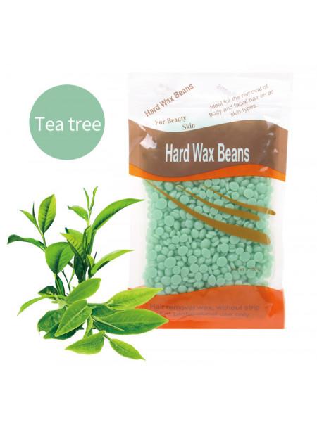 Воск для депиляции горячий (пленочный) Зеленый чай 100гр