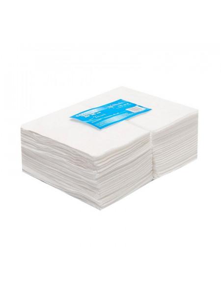 Салфетка одноразовая 20*20 спанлейс белый White line 100шт. пачка